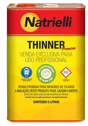 Imagem de THINNER NATRIELLI 8137 AUTOMOV.5lts NATRIELLI