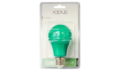 Imagem de LAMP.LED BULBO  6W COLOR VD OPUS BIV OPUS