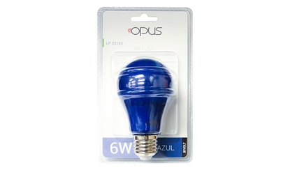 Imagem de LAMP.LED BULBO  6W COLOR AZ OPUS BIV OPUS