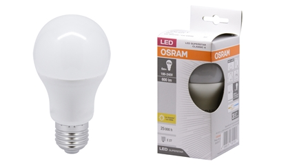 Imagem de LAMP.LED BULBO  6W OSRAM 3000K AM BIV