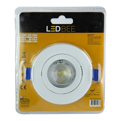 Imagem de SPOT LED EMB.RED LEDBEE 5W 3000K AM LEDBEE